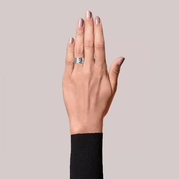 Bilde av Big Reflection Ring Sterling Silver Jane Kønig