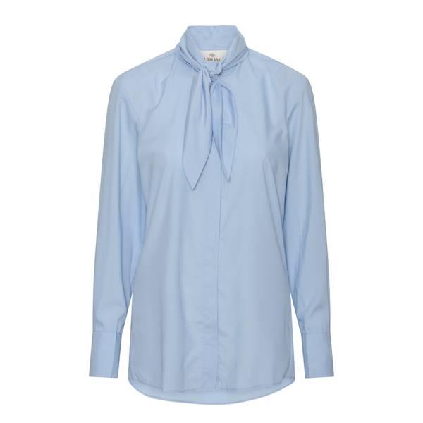 Bilde av  KARMAMIA Ribbon shirt Blue Cotton
