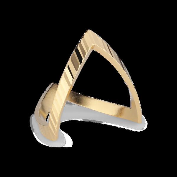 Bilde av Reflection V-ring, Gold-plated Sterling Silver Jane Kønig